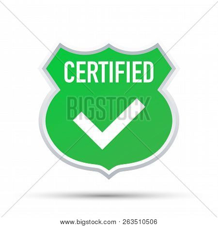 Certified Stamp Vector Isolated On White Background. Vector Stock Illustration.