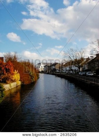 River Running Through Galway City, Ireland