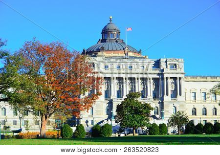The Library of Congress in autumn colors - Washington DC United States of America (USA)
