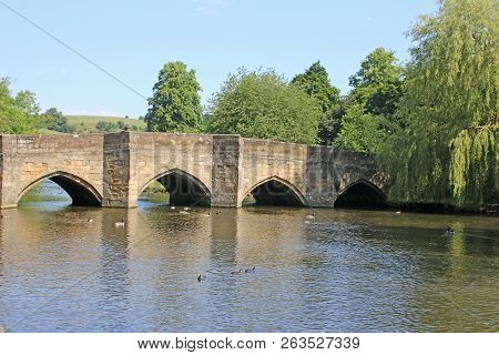 Bridge Over The River Wye, Bakewell In The Peak District