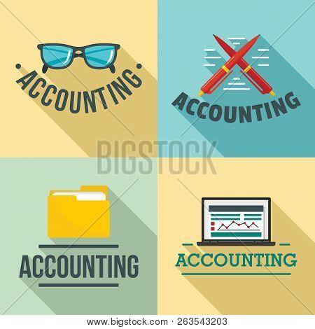 Accounting International Day Logo Set. Flat Illustration Of Accounting International Day Vector Logo