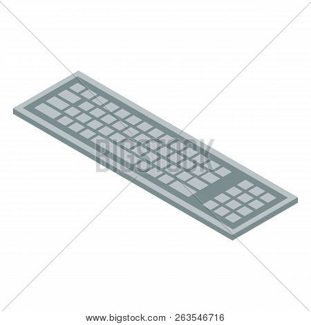 Wireless Keyboard Icon. Isometric Of Wireless Keyboard Vector Icon For Web Design Isolated On White