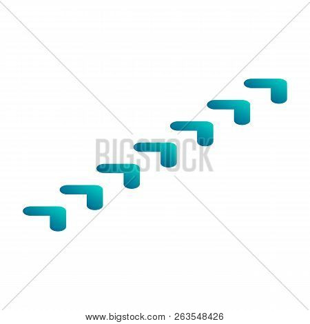 Green Sideway Icon. Isometric Of Green Sideway Vector Icon For Web Design Isolated On White Backgrou