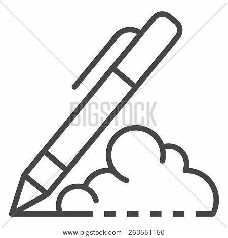 Writing Pen Icon. Outline Writing Pen Vector Icon For Web Design Isolated On White Background