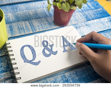 Q & A, Questions And Answers. Motivational Internet Business Words Quotes Lettering Typography Conce