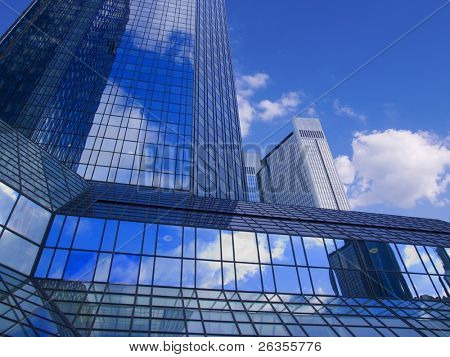 There is a sky-scraper downtown city