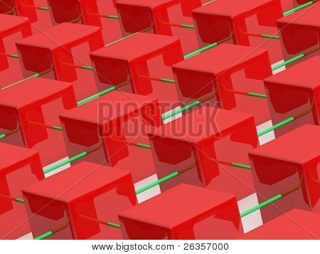 rows of cubes