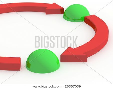 3d abstract illustration cycle