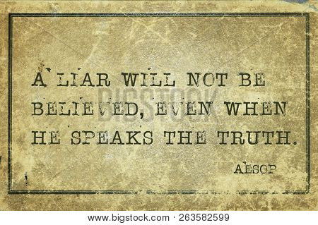 A Liar Will Not Be Believed, Even When He Speaks The Truth - Famous Ancient Greek Story Teller Aesop