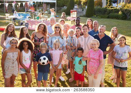 Group Portrait Of People Attending Summer Garden Fete
