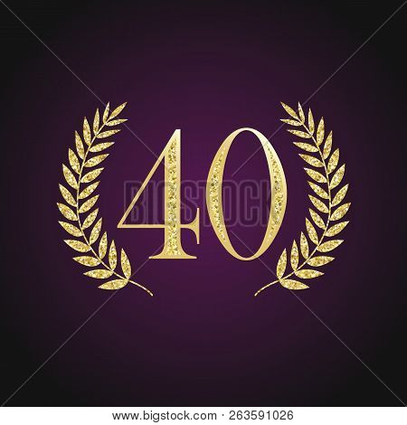 40 Th Years Old Logotype. Isolated Elegant Abstract Nominee Graphic Seal Emblem Of 40%. Congratulati