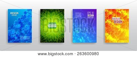 Book Cover Layout. Modern Simple Geometric Template For Business. Abstract Hexagon Flyer Design. Vec