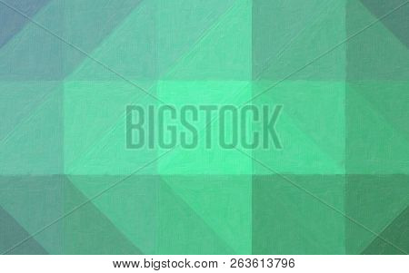 Illustration Of Green, Blue And Red Contrast Oil Painting Background