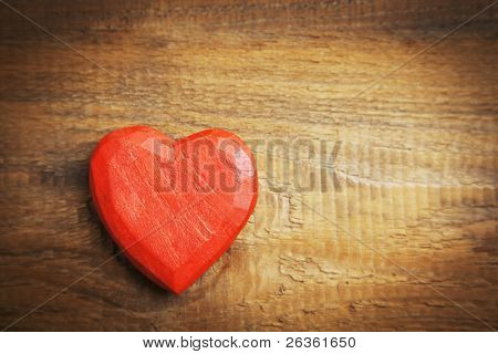 ter haert on wooden background