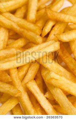 french fries or chips close up