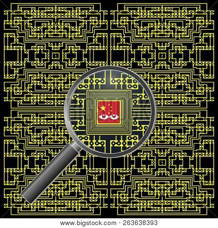 Alleged Chinese motherboard spy chip. Micro espionage chips in modified computers manufactured in China poster