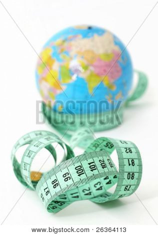 concept image for world statistics like weight, nutrition, economy, population poster