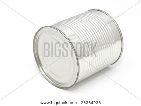 Tin can isolated on a white background
