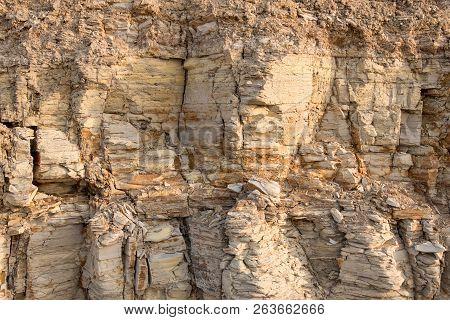 Background, Texture Of Rock, Coquina. Break Rocks From The Shell Rock. Texture, Background Of Shell