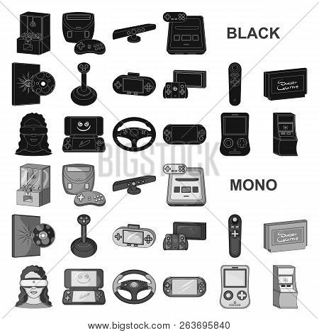 dea9c865101f Game Console And Virtual Reality Black Icons In Set Collection For Design.game  Gadgets Vector