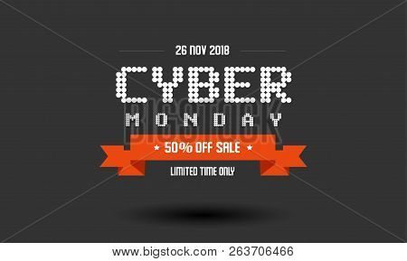 Cyber Monday Sale Label Design Template. Vector Illustration Of Cyber Monday Promotion Label Concept
