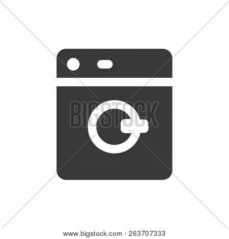 Washing Machine Vector Icon On White Background. Washing Machine Icon In Modern Design Style. Washin