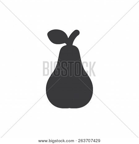 Pear Vector Icon On White Background. Pear Icon In Modern Design Style. Pear Vector Icon Popular And