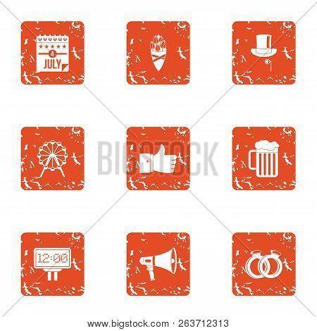Autonomy Icons Set. Grunge Set Of 9 Autonomy Vector Icons For Web Isolated On White Background