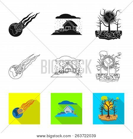 Vector Illustration Of Natural And Disaster Icon. Collection Of Natural And Risk Stock Vector Illust