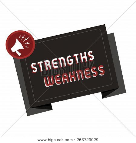 Text Sign Showing Strengths Weakness. Conceptual Photo Opportunity And Threat Analysis Positive And