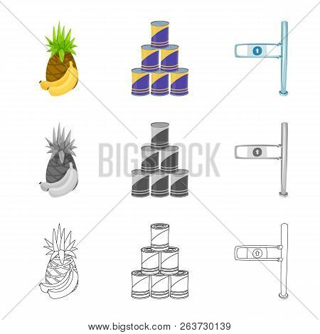 Vector Design Of Food And Drink Icon. Collection Of Food And Store Stock Vector Illustration.