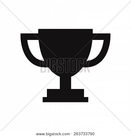 Trophy Cup Icon Isolated On White Background. Trophy Cup Icon In Trendy Design Style. Trophy Cup Vec