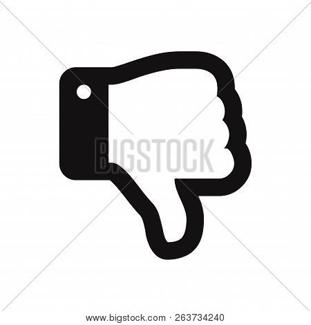 Thumb Down Icon Isolated On White Background. Thumb Down Icon In Trendy Design Style. Thumb Down Vec