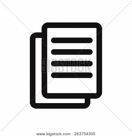 Text Documents Icon Isolated On White Background. Text Documents Icon In Trendy Design Style. Text D