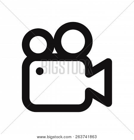 Video Camera Icon Isolated On White Background. Video Camera Icon In Trendy Design Style. Video Came