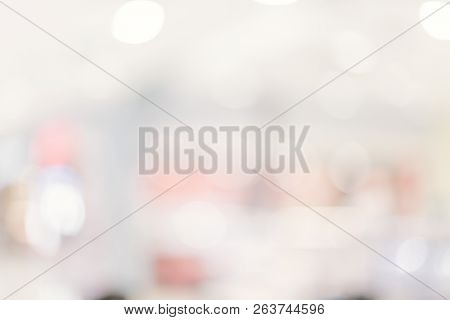 Abstract Blur Department Store With Shopping Mall Interior For Background.abstract Blur In Supermark