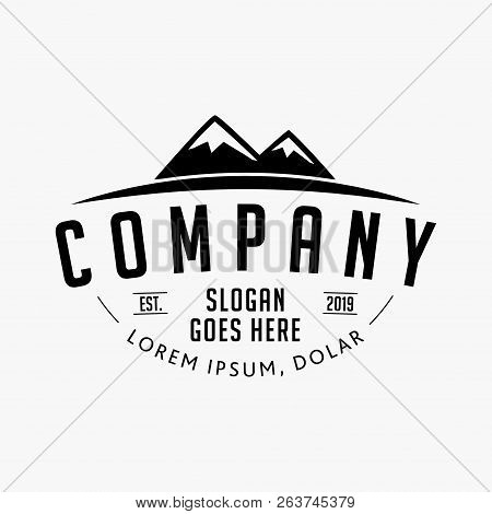 Mountain Company Logo. Mountain Design Template.vector And Illustrations.