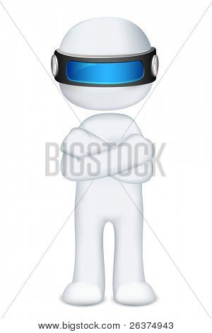 illustration of 3d man in vector fully scalable standing hand folding