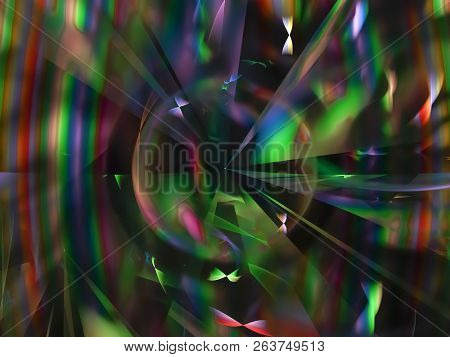 Fractal Digital Abstract Beautiful Design Contrast, Style, Poster