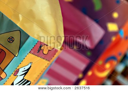 Kids Birthday Party Abstract Colorful Details Paper