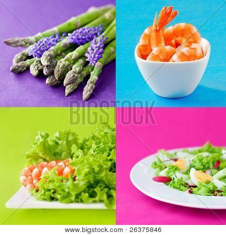 fresh healthy food set