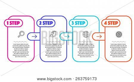 Infographic Steps For Landing Or Presentation Trend Vector Template