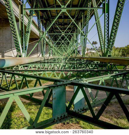 Framework Of A Bridge In Oceanside California