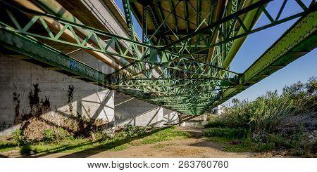Girders And Beams Of A Bridge In Oceanside Ca