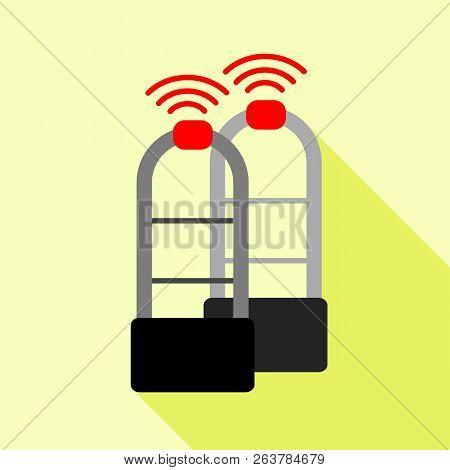 Shoplifter Scanner Icon. Flat Illustration Of Shoplifter Scanner Icon For Web
