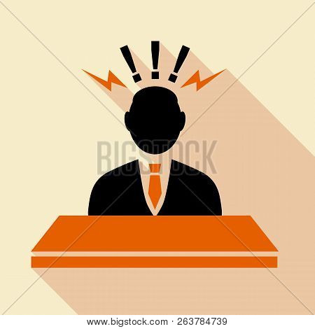 Consulting Agent, Information Stand Icon. Flat Illustration Of Consulting Agent, Information Stand I