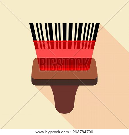 Barcode Reader Icon. Flat Illustration Of Barcode Reader Icon For Web