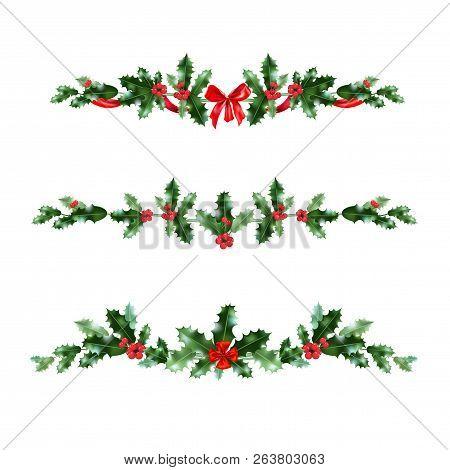 Christmas Holly Vector.Christmas Holly Vector Photo Free Trial Bigstock