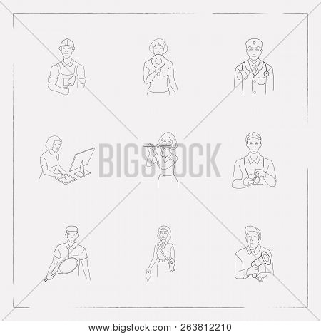 Set Person Icons Line Vector & Photo (Free Trial) | Bigstock
