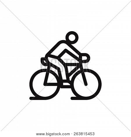 Ride A Bicycle Icon Isolated On White Background. Ride A Bicycle Icon In Trendy Design Style. Ride A